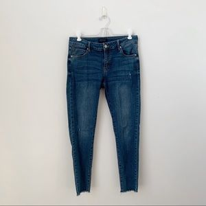 Just USA Raw Hem Skinny Jeans